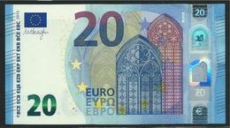 € 20  ITALIA SA S012 I6  LAST POSITION DRAGHI  UNC - EURO