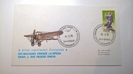 1976 MANIFESTAZIONE PRIMI ESPERIMENTI AVIAZIONE BOLOGNA FIRENZE LA SPEZIA SIENA REGGIO EMILIA - Airplanes