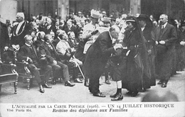 PARIS - Un 14 Juillet Historique - Remise Des Diplômes Aux Familles - 1916 - Francia