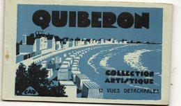 Carnet 11 CPA QUIBERON. Dont Plage, Place Hoche, Port, Périssoires, Rochers, Phare, Bateau De Belle Ile, .... - Quiberon