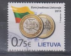 Lithuania 2015 Mi 1175 Used Euro Introduction - Lituania