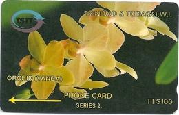 Trinidad & Tobago - Orchid Flower - 6CTTD - 1993, 30.000ex, Used