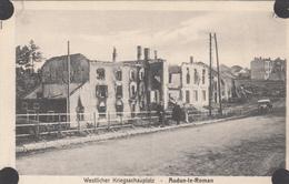 AUDUN-LE-ROMAN -Village En Ruines- Automobile Personnages Animée- Dép54(guerre De 14-18) - Francia