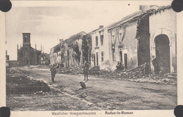 AUDUN-LE-ROMAN -Village En Ruines- Eglise- Militaires Allemand -civil-dép54(guerre De 14-18) - Francia