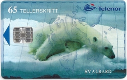 Svalbard - Telenor - Polar Bear - N-140A (Serial C92030061) - 02.1999, 17.000ex, Used