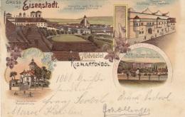 Litho Gruss Aus EISENSTADT (KISMARTONBÖL), 1899?, Auf Rückseite Klebespuren S.Scan - Eisenstadt
