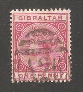 Gibraltar 1887-1898,Victoria 1p,Sc 11,Fine USED - Gibraltar