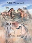 CENTRAFRICAINE 2013 SHEET ARABIAN HORSES CHEVAL ARABE CAVALOS ARABISCHE PFERDE CAVALLI ARABI WILDLIFE CABALLOS 13320a - Central African Republic