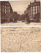 FRANCIA 1919 - France - LYON - Place Vendome Et Cours Gambetta - Carte Postale - Tram - Lyon