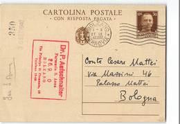 7809 02 BOLZANO FARMACIA SANT ANNA X BOLOGNA - 1900-44 Victor Emmanuel III