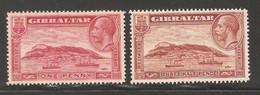 Gibraltar 1931,KGV,Sc 96-97,Mint No Gum (L-1) - Gibraltar