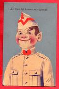 Soldat Belge: Le Plus Bel Homme Du Régiment. Camp D'Elsenborn. 12ème Régiment D'Artillerie. 1922 - Humour