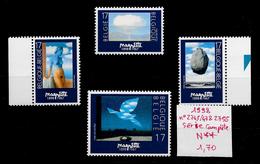 Art Peinture Surréalisme Magritte - Belgique N°2745 à 2747 & 2755 1998 ** - Arts