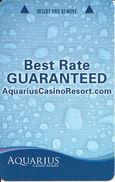Aquarius Casino Resort - Las Vegas, NV USA - Hotel Room Key Card