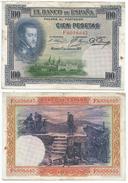 España - Spain 100 Pesetas 1925 Pick 69.c Ref 668-5 - [ 1] …-1931 : Primeros Billetes (Banco De España)