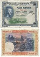España - Spain 100 Pesetas 1925 Pick 69.c Ref 668-7 - 1-2-5-25 Pesetas