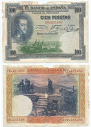 España - Spain 100 Pesetas 1925 Pick 69.c Ref 668-8 - 1-2-5-25 Pesetas