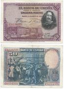 España - Spain 50 Pesetas 1928 Pick 75.c Ref 180 - [ 1] …-1931 : Primeros Billetes (Banco De España)