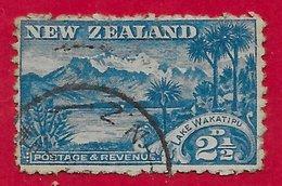 Nouvelle-Zélande N°102 2,5p Bleu (filigrane NZ, Dentelé 11) 1900-1909 O - 1855-1907 Colonie Britannique