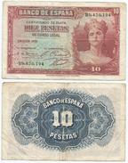 España - Spain 10 Pesetas 1935 Pick 86.a Ref 192 - [ 2] 1931-1936 : République