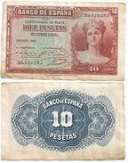 España - Spain 10 Pesetas 1935 Pick 86.a Ref 681-5 - [ 2] 1931-1936 : Repubblica