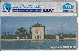 MOROCCO(L&G) - Menara Marrakech, O.N.P.T. Telecard 70 Units, CN : 204F, Tirage 60000, Used