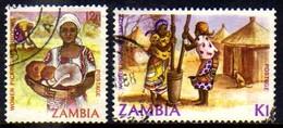 03386 Zambia 271 + 273 Arte E Artesanato U - Zambia (1965-...)