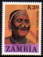 03432 Zambia 428 Nativos Tradições Nnn - Zambia (1965-...)