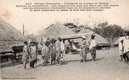 AFRIQUE FRANCAISE COMMENT ON VOYAGE EN GUINEE ARRIVEE AU CAMPEMENT - French Guinea