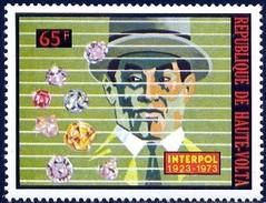 INTERPOL, 50th Anniversary Of International Criminal Police Organization, Haute-Volta Stamp SC#302 MNH - Burkina Faso (1984-...)