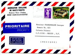 France 1997 Airmail Cover Barcelonnette To Mexico W/ Letter - France