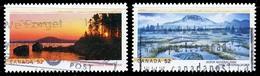 Canada (Scott No.2223-4 - Parc Nationaux / National Parks) (o) - 1952-.... Règne D'Elizabeth II