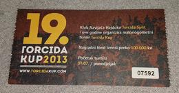 TORCIDA KUP, HAJDUK SPLIT, THE BIGGEST FUTSAL SUMMER TOURNAMENT- 2013 - Match Tickets