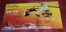 FIRST IAAF CONTINENTAL CUP IN ATHLETIC SPLIT 2010. BLANKA VLAŠIĆ - Match Tickets