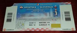 MEN'S WORLD HANDBALL CHAMPIONSHIP 2009. SPLIT CROATIA, MATCH TICKET CROATIA Vs SLOVENIA - Match Tickets