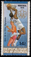 BURUNDI - Scott #495a Montréal '76 Olympic Games, Basketball / Used Stamp - Summer 1976: Montreal