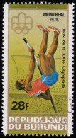 BURUNDI - Scott #497a Montréal '76 Olympic Games / Used Stamp - Summer 1976: Montreal
