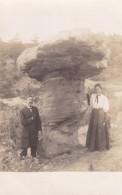 Garden Of The Gods Colorado Man Woman With Rock Formation, Near Colorado Springs, C1900s Vintage Real Photo Postcard - Colorado Springs