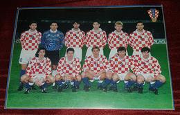 CROATIAN NATIONAL FOOTBALL TEAM,CROATIA- ITALY 1995. OFFICIAL CARD WITH AUTOGRAPHS, SUKER, BOBAN, BOKSIC ***UNIQUE*** - Authographs