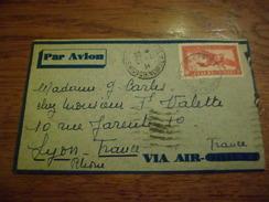 Lettre Par Avion Air France Saïgon Central Le 21 /4/1934 Pour Lyon Via Marseille Gare Avion Le 29/4/1934 P.A. N°8   TB - Indochina (1889-1945)