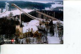 (100) Belarus - Ski Jump + Timbre De Tir A La Carabine - Gun Firing - Sports D'hiver
