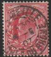 Oblitération Francaise Sur Timbre Anglais N° 107 - Poststempel (Einzelmarken)