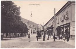 Slovakia, Trencsenteplicz, Trencianske Teplice Postcard Mailed 1909: Street Scene, Animated - Slovakia