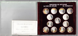 ESPAGNE LOT DE 13 MEDAILLES EN ARGENT, Diam: 22 Mm, Poids: 3.81 Gr.  (3P7) - Spain