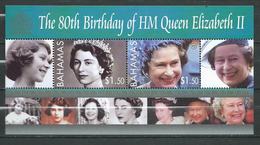 Bahamas 2006 The 80th Anniversary Of The Birth Of Queen Elizabeth II.Block.MNH - Bahamas (1973-...)