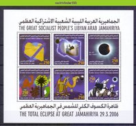 Ndg062b ZONSVERDUISTERING KAMEEL CAMELS MAMMALS SOLAR ECLIPSE TOTAL DO SOL SPACE SONNENFINSTERNIS QWY 2006 PF/MNH - Astronomie