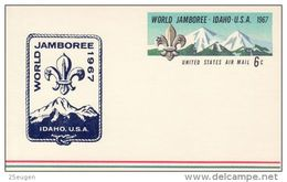 USA 1967 12TH WORLD JAMBOREE POSTCARD MINT