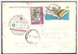 Italia/Italy/Italie: Intero, Stationery, Entier, Mondiali Sci Nautico, World Water Skiing, Ski Nautique Monde