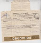 TELEGRAMMA PUBBLICITARIO VIAGGIATO OLIVETTI COLORE ORO - 6. 1946-.. Republic