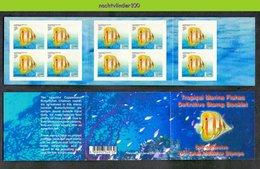 Mwy017 FAUNA VISSEN FISH * BOOKLET * FISCHE POISSONS MARINE LIFE SINGAPORE 2001 PF/MNH - Fische
